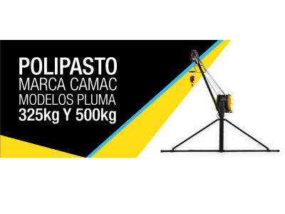 Polipasto marca CAMAC modelos pluma 325kg y 500kg